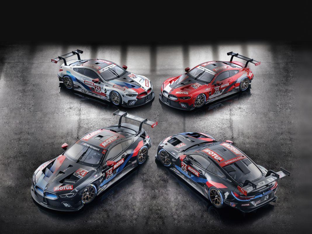 Die vier BMW M8 GTE von Minichamps in 1:18 leben von der grandiosen Renndekoration und den brillanten Details