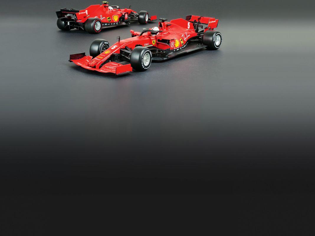 Vettels wohl letzter Formel-1-Ferrari zeigt als Bburago-Modell in 1:18 eine tolle Fahrerfigur und ausgefuchste Technikfinessen