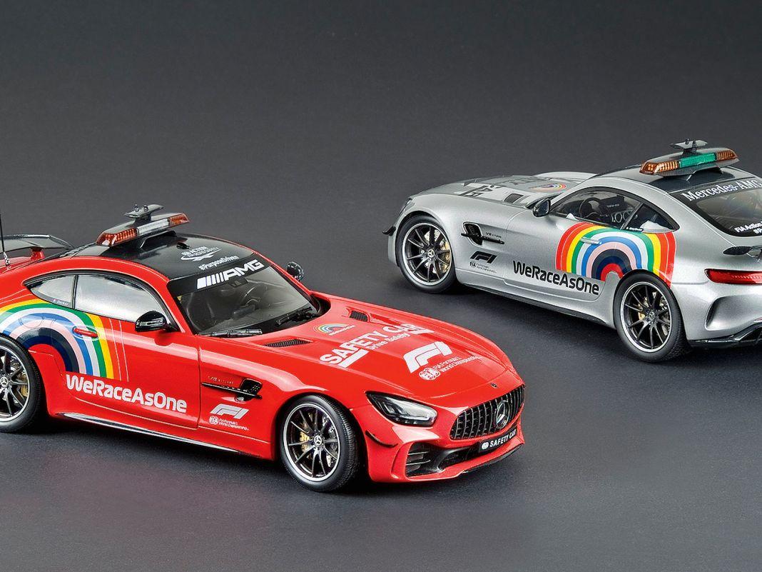Ausnahmsweise gab es 2020 das Mercedes- AMG-Pace-Car in der F1 auch in Rot