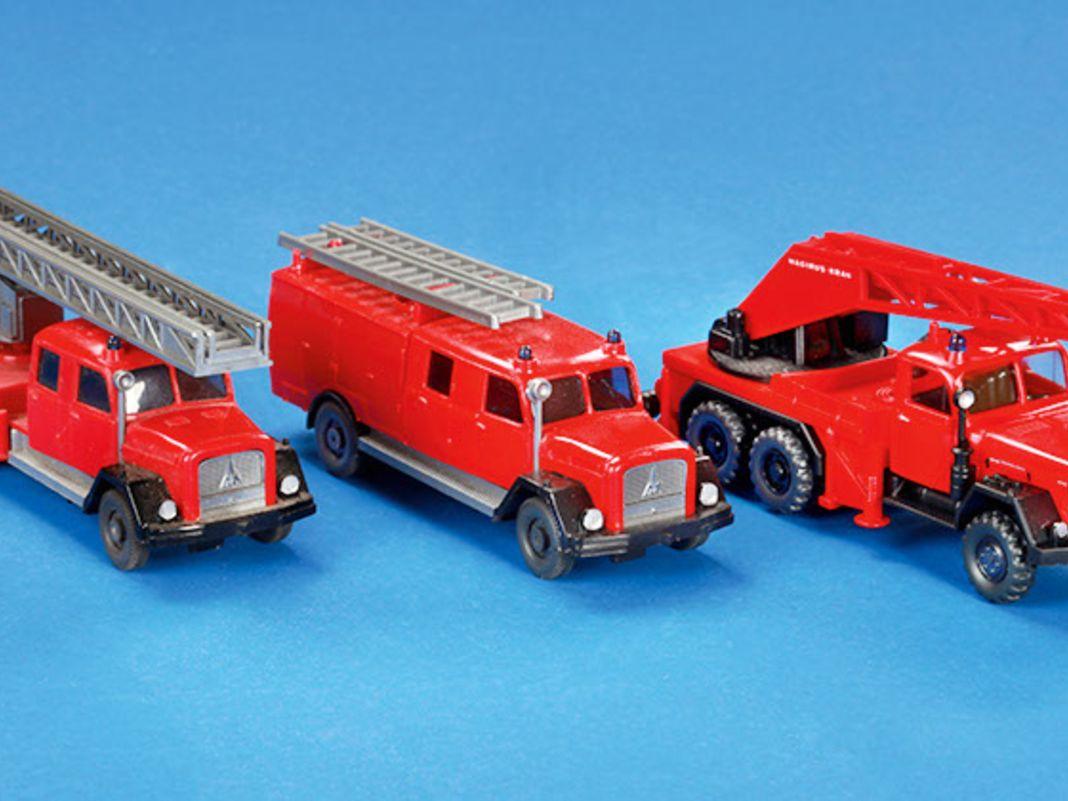 Egal ob Löschfahrzeug, Drehleiter oder Kranwagen, bei der Feuerwehr war der Eckhauber aktiv.