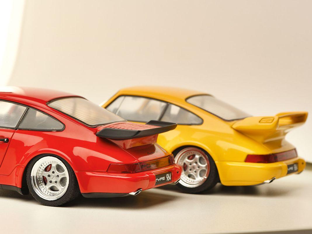 In der 45-Euro-Klasse setzt Solido mit diesen beiden Elfer-Porsche der Generation 964 Akzente