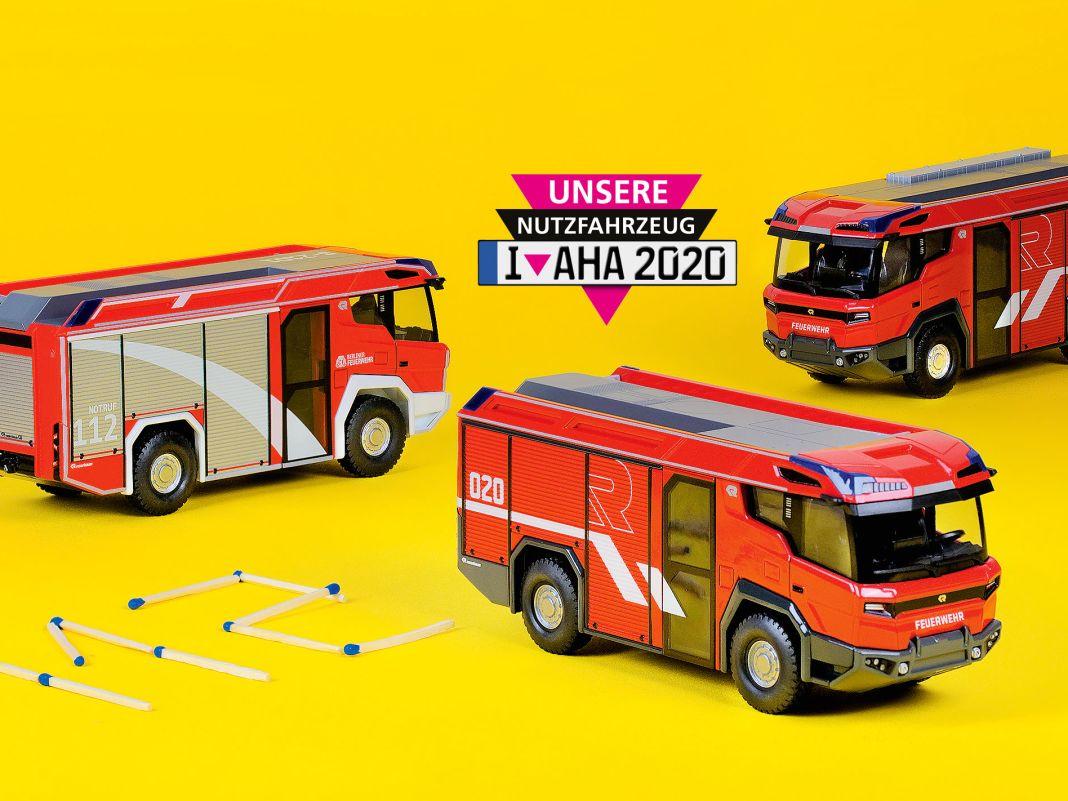 Den Rosenbauer RT von Wiking in 1:43 gibt es in Rosenbauer- Version und für den Modellauto-Fachhandel