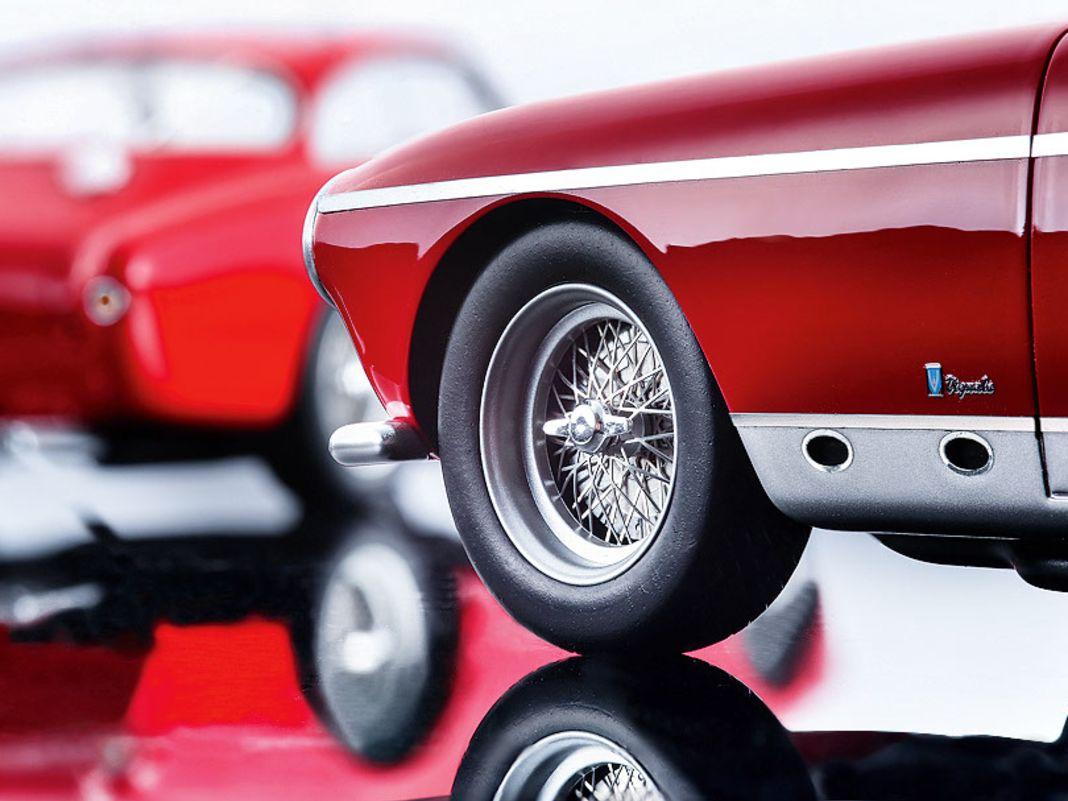 Die Finessen an der Rennversion des Ferrari 250 MM Vignale Berlinetta zeigen, wie viel Wert Tecnomodel auf die originalgetreue Gestaltung legt