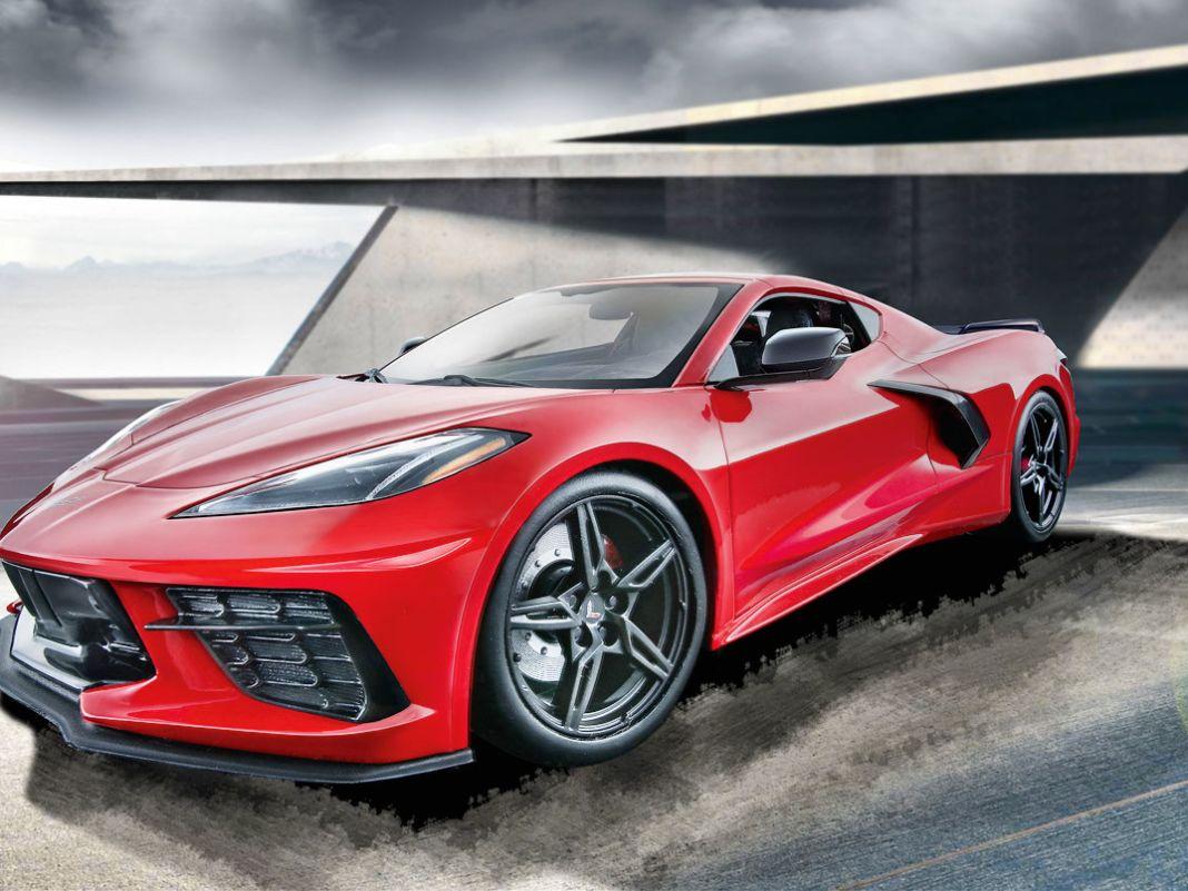 Trotz Mittelmotor ist vom V8 der Corvette beim Maisto-Modell in der Baugröße 1:18 aus Zinkdruckguss noch sehr viel zu sehen