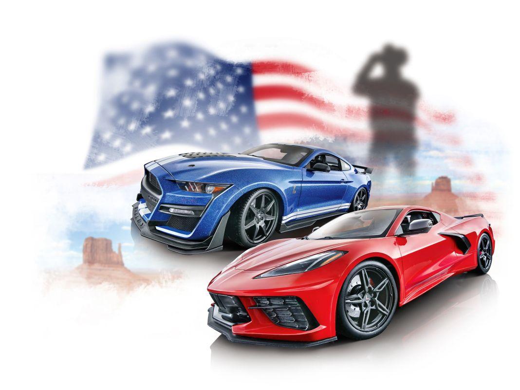 Mustang GT500 und Stingray Vette von Maisto in 1:18