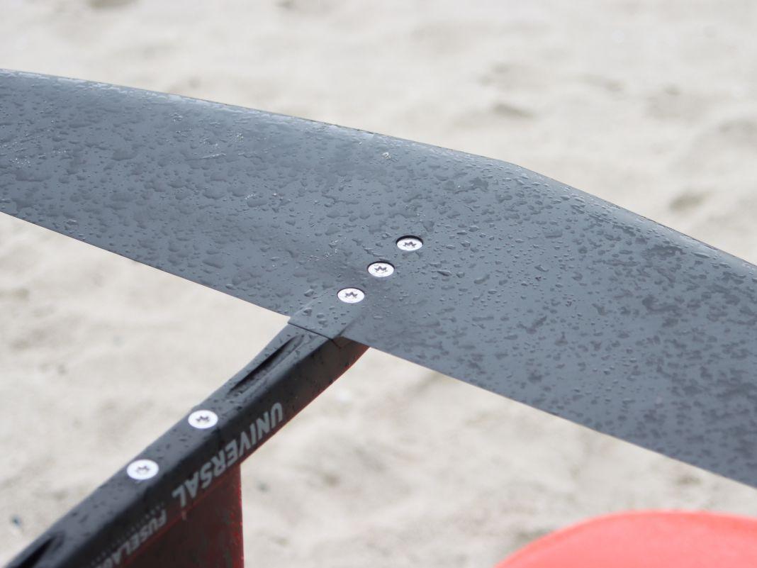 Schrauben mit 8mm Stärke sorgen für eine solide Verbindung