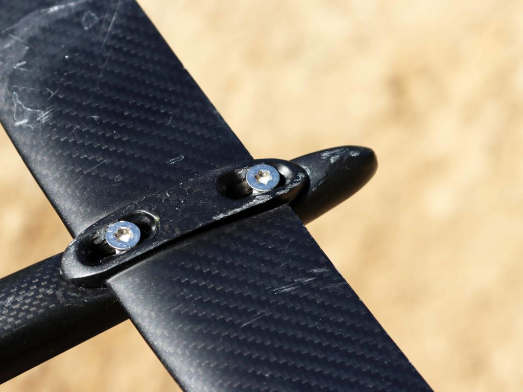 Der Heckflügel ist im Winkel veränderbar