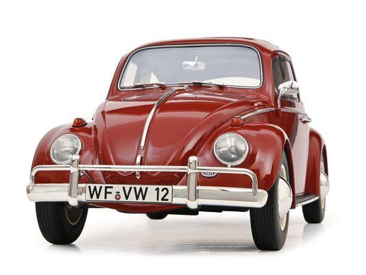 Die 1912 gegründete Traditionsmarke Schuco ist der deutsche Modellauto-Blockbuster. Hier im Bild ein Modell des Volkswagen Käfer in 1:12, das Anfang nächsten Jahres erscheinen soll.