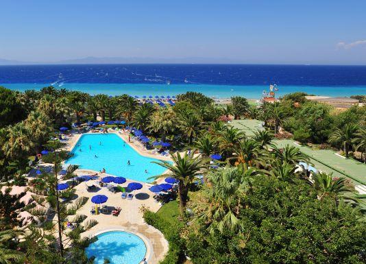 Ausblick vom Hotel auf den Spot in Trinada.