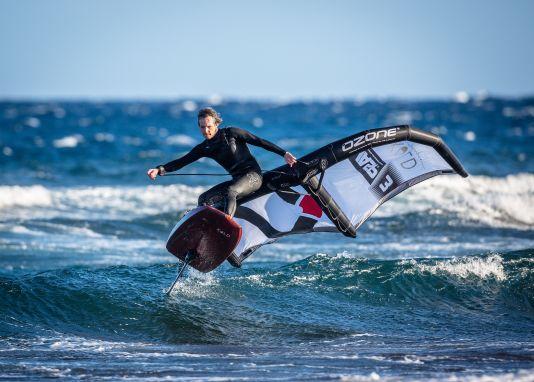 Großer Spaß in kleinen Wellen für Mario Rodwald