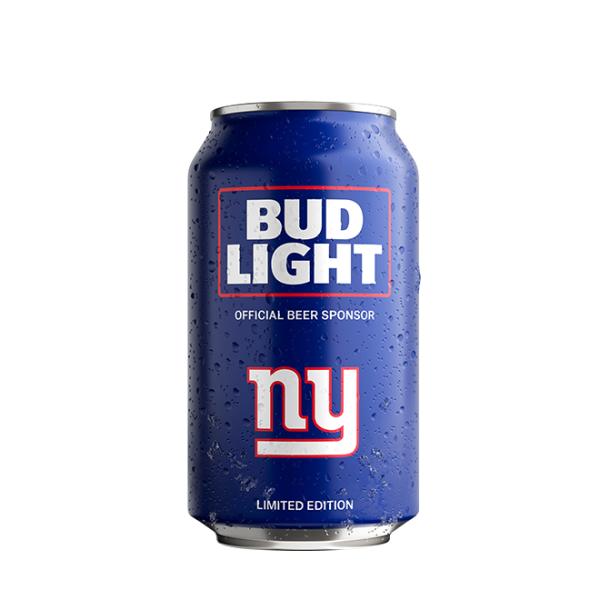 Bud Light New York Giants NFL Team Can