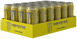 Monster Energy Ultra Citron Karton 24 x 0,5 l Dose Einweg