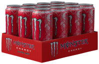 Monster Energy Ultra Red Karton 12 x 0,5 l Dose Einweg