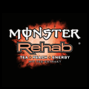 Logo Monster Rehab Tea + Peach + Energy