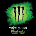 Logo Monster Rehab Green Tea + Energy