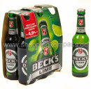 Foto Becks Green Lime 6 x 0,33 l Glas Mehrweg