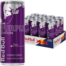 Foto Red Bull The Purple Edition Açai Karton 12 x 0,25 l Dose Einweg