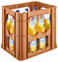 Foto Schloss Quelle Limonade Orange Kasten 12 x 0,7 l Glas Mehrweg