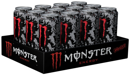 Foto Monster Assault Energy Karton 12 x 0,5 l Dose Einweg