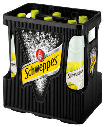 Foto Schweppes Fruity Lemon & Mint Kasten 6 x 1 l PET Mehrweg