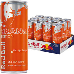 Foto Red Bull Orange Karton 12 x 0,25 l Dose Einweg