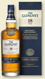Foto The Glenlivet Single Malt Scotch Whisky 18 years 0,7 l