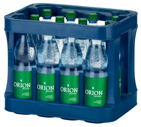 Foto Orion Mineralwasser Medium Kasten 12 x 1 l PET Mehrweg