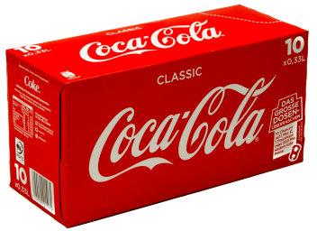 Coca Cola Karton 10 x 0,33 l Dose EW