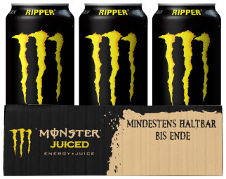 Foto Monster Ripper Energy + Juice Karton 12 x 0,5 l Dose Einweg