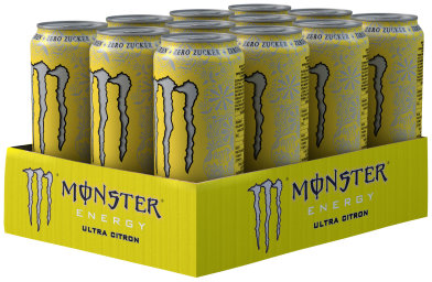 Foto Monster Energy Ultra Citron Karton 12 x 0,5 l Dose Einweg