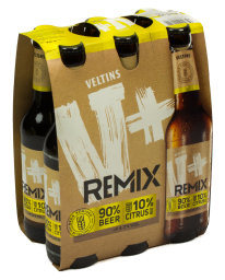 Veltins V+ Remix 90% Beer 10% Citrus 6 x 0,33 l Glas MW