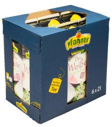 Pfanner Eistee Der Weiße Zitrus Holunderblüte Karton 6 x 2 l Tetrapack