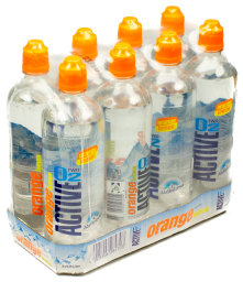 Active O2 Orange Lemon Karton 8 x 0,75 l PET EW