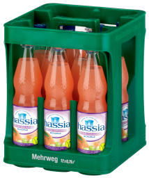 Foto Hassia Pink Grape-Schorle Kasten 12 x 0,75 l PET Mehrweg