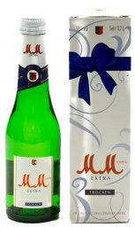 MM Extra Sekt trocken Geschenkpackung 0,2 l Glas