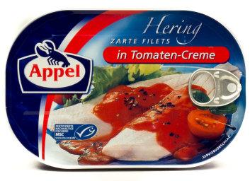 Appel Hering Zarte Filets in tomaten Creme 120 g Dose