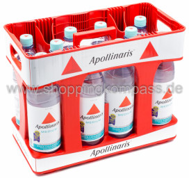 Foto Apollinaris Mineralwasser Medium Kasten 10 x 1 l PET Mehrweg