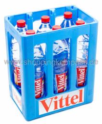 Vittel Mineralwasser Natur Kasten 6 x 1,5 l PET EW