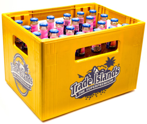 Trade Islands Iced Tea Pomegranate Kasten 24 x 0,33 l Glas MW