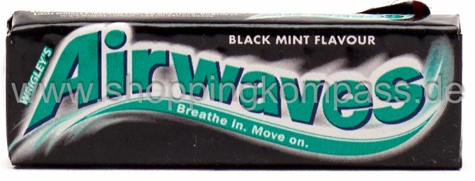 Foto Wrigley's Airwaves Kaugummi Black Mint Flavour 10 dragees