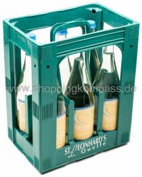 St. Leonhards Mondquelle Mineralwasser Still Kasten 6 x 1 l Glas MW