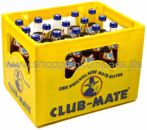 Club Mate Ice Tea Kraftstoff Kasten 20 x 0,5 l Glas MW