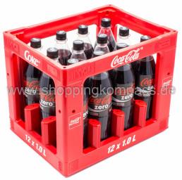 Coca Cola Zero Kasten 12 x 1 l PET MW