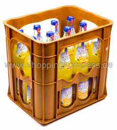 Schloss Quelle Limonade Orange Kasten 12 x 0,7 l Glas Mehrweg