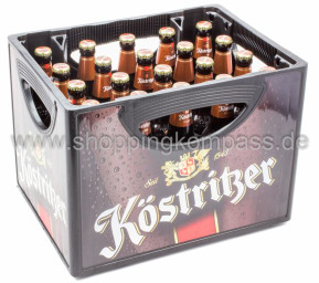 Köstritzer Schwarzbier Kellerbier Kasten 20 x 0,5 l Glas MW