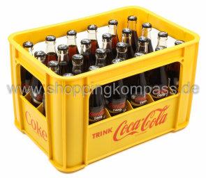 Coca Cola Zero Kasten 24 x 0,33 l Glas MW