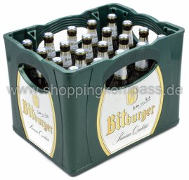 Bitburger Light Kasten 20 x 0,5 l Glas MW