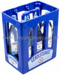 Gerolsteiner Mineralwasser Naturell Kasten 6 x 1 l Glas MW