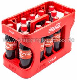 Coca Cola Kasten 12 x 0,5 l PET EW
