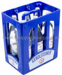 Gerolsteiner Mineralwasser Sprudel Kasten 6 x 1 l Glas MW